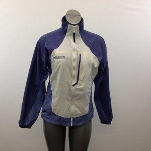Columbia Women's Medium White Purple Nylon Jacket